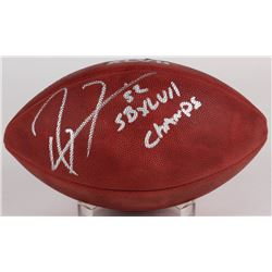 """Ray Lewis Signed Official Super Bowl XLVII NFL Game Ball Inscribed """"SB XLVII Champs"""" (Radtke COA)"""