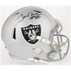 Jerry Rice Signed Raiders Full-Size Speed Helmet (Beckett COA)