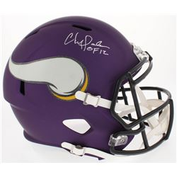 """Chris Doleman Signed Vikings Custom Matte Full-Size Speed Helmet Inscribed """"HOF 12"""" (Radtke COA)"""