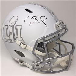 Tom Brady Signed Super Bowl 51 Limited Edition Custom Matte White ICE Full-Size Speed Helmet (Steine
