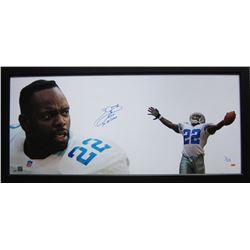 "Emmitt Smith Signed Cowboys ""The Show"" 23x50 Custom Framed Limited Edition Photo Inscribed ""3x SB Ch"
