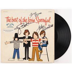 """John Sebastian, Joe Butler  Steve Boone Signed The Lovin' Spoonful """"The Best Of"""" Record Album Cover"""