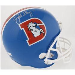John Elway Signed Broncos Throwback Full-Size Helmet (Radtke COA  Elway Hologram)