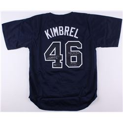"""Craig Kimbrel Signed LE Braves Jersey Inscribed """"Rookie Saves Record 8-31-2011""""  """"155 Saves 06-06-20"""