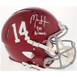 "Mark Ingram Signed Alabama Crimson Tide Full-Size Authentic Speed Helmet Inscribed ""09' Heisman"" (UD"