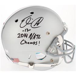 "Eli Apple Signed Ohio State Buckeyes Full-Size Helmet Inscribed ""2014 NATL Champ!"" (Radtke COA)"