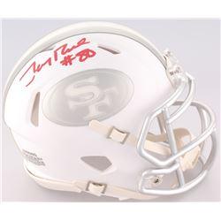 Jerry Rice Signed 49ers Mini ICE Speed Helmet (Radtke COA)