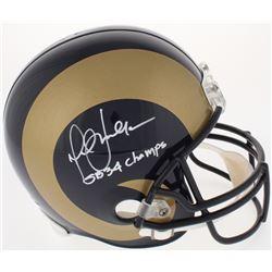 """Marshall Faulk Signed Rams Full-Size Helmet Inscribed """"SB 34 Champs"""" (Radtke Hologram)"""