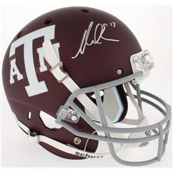 Mike Evans Signed Texas AM Aggies Full-Size Custom Matte Maroon Helmet (JSA COA)