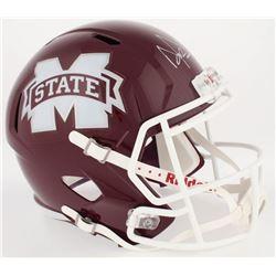 Dak Prescott Signed Mississippi State Bulldogs Full-Size Speed Helmet (JSA COA  Prescott Hologram)
