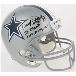 Daryl  Moose  Johnston Signed Cowboys Full-Size Helmet Inscribed  SB Champs XXVII, XXVIII, XXX  (Rad