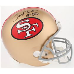 Jerry Rice Signed 49ers Throwback Full-Size Helmet (Beckett COA)