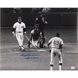 Reggie Jackson Signed Yankees 16x20 Photo Inscribed  3 HR's 10-18-77  (JSA COA)