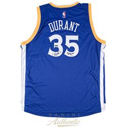 "Kevin Durant Signed Warriors Limited Edition Adidas Swingman Jersey Inscribed ""17 NBA Champ"" (Panini"
