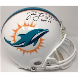 "Jason Taylor Signed Dolphins Limited Edition Full-Size Authentic On-Field Helmet Inscribed ""HOF 17"""