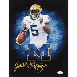 Jabrill Peppers Signed Michigan Wolverines 11x14 Photo (JSA COA)