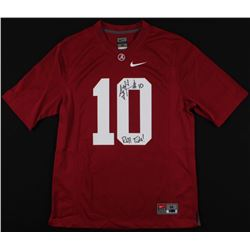 "AJ McCarron Signed Alabama Crimson Tide Jersey Inscribed ""Roll Tide!"" (McCarron Hologram  Radtke COA"