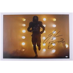Le'Veon Bell Signed Steelers 20x30 Canvas (JSA COA)