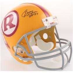 """Sonny Jurgensen Signed Redskins Full-Size Helmet Inscribed """"HOF 83"""" (JSA COA)"""