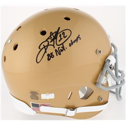 "Ricky Watters Signed Notre Dame Fighting Irish Full-Size Helmet Inscribed ""88' Nat. Champs"" (Radtke"