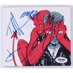 "Queens of the Stone Age ""Villains"" CD Album Band Signed by (4) Josh Homme, Michael Shuman, Jon Theod"