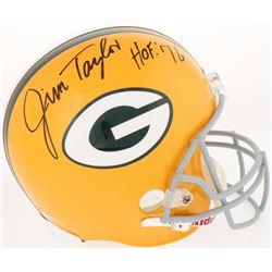 "Jim Taylor Signed Packers Full-Size Helmet Inscribed ""HOF '76"" (Radtke COA)"