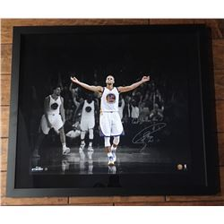 "Stephen Curry Signed Warriors 20x24 Custom Framed Limited Edition Photo Inscribed ""Gotta Love The 3'"