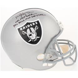 "Rich Gannon Signed Raiders Full-Size Helmet Inscribed ""NFL MVP 2002""  ""PRO BOWL MVP 2001  2002"" (Rad"