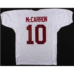 """AJ McCarron Signed Alabama Crimson Tide Jersey Inscribed """"Roll Tide!"""" (McCarron Hologram  Radtke Hol"""