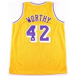 James Worthy Signed Lakers Jersey (JSA COA)