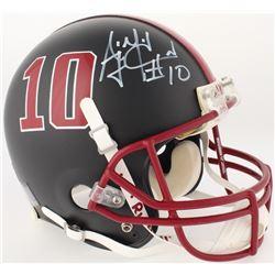 AJ McCarron Signed Alabama Crimson Tide Custom Matte Black Full-Size Authentic On-Field Helmet (Radt
