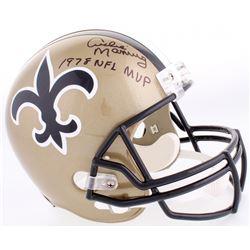 """Archie Manning Signed Saints Full-Size Helmet Inscribed """"1978 NFL MVP"""" (Radtke COA)"""