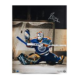 """Grant Fuhr Signed Oilers """"Net Keeper"""" 16x20 Limited Edition Photo (UDA COA)"""