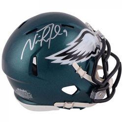Nick Foles Signed Eagles Mini Speed Helmet (Fanatics Hologram)