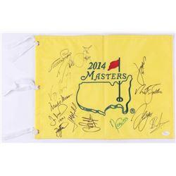 2014 Masters Golf Pin Flag Signed by (14) With Jordan Spieth, Mark O'Meara, Angel Cabrera, Adam Scot