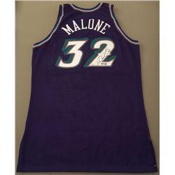 Karl Malone Signed Limited Edition Jazz Champion Jersey (UDA COA)