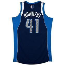 "Dirk Nowitzki Signed Mavericks Limited Edition Revolution Jersey Inscribed ""MVP 06/07"" (UDA COA)"