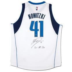 "Dirk Nowitzki Signed Mavericks Limited Edition Adidas Jersey Inscribed ""13x All-Star"" (UDA COA)"