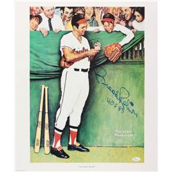 """Brooks Robinson Signed Orioles """"Gee Thanks, Brooks!"""" 18x21 Norman Rockwell Lithograph Inscribed """"HOF"""
