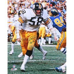 "Jack Lambert Signed Steelers 16x20 Photo Inscribed ""HOF '90"" (JSA COA)"