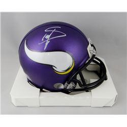 Stefon Diggs Signed Vikings Mini Helmet (Beckett COA)
