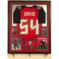 Lavonte David Signed Buccaneers 34x42 Custom Framed Jersey Display (JSA COA)