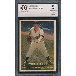 1957 Topps #25 Whitey Ford (BCCG 9)