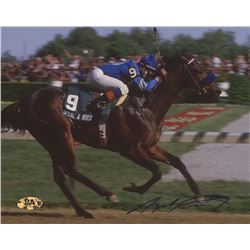 Angel Cordero, Jr. Signed 1985 Kentucky Derby 8x10 Photo (MAB Hologram)