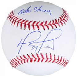 "David Ortiz Signed Baseball Inscribed ""Boston Strong"" (Fanatics Hologram  MLB Hologram)"