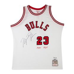 Michael Jordan Signed Bulls Limited Edition Mitchell  Ness Jersey (UDA COA)
