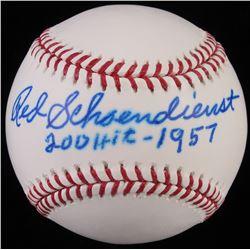 "Red Schoendienst Signed OML Baseball Inscribed ""200 Hits-1957"" (JSA COA)"