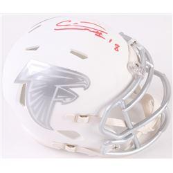 Calvin Ridley Signed Falcons Mini Speed Ice Helmet (Beckett COA)