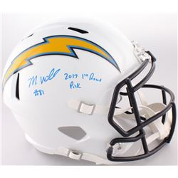"""Mike Williams  Signed Chargers Full-Size Speed Helmet Inscribed """"2017 1st Round Pick"""" (Fanatics Holo"""