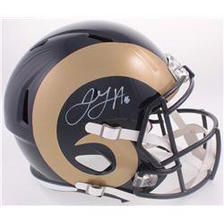 Jared Goff Signed Rams Full-Size Speed Helmet (Fanatics Hologram)
